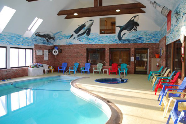 Indoor swimming pool pilgrim sands on long beach for Plymouth hotels with swimming pools